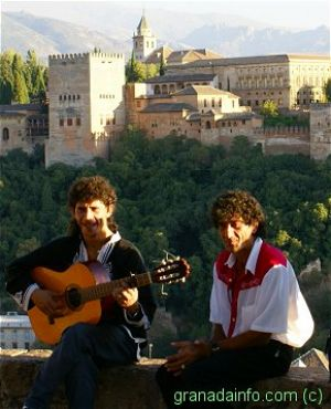 Flamenco at Mirador San Nicolás <br>(Alhambra in background)