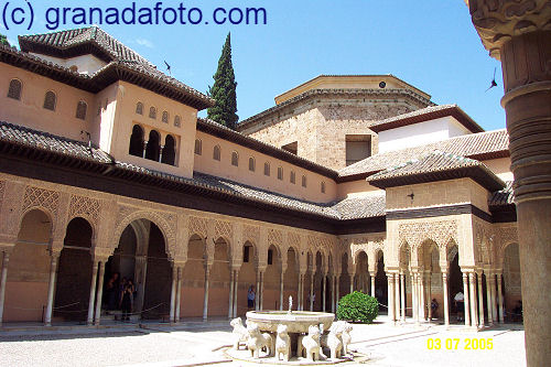 Patio de los Leones (3) - Courtyard of the Lions (3)