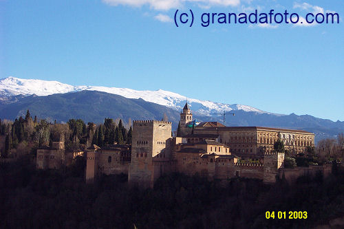 Alhambra (4) - with snow in the background
