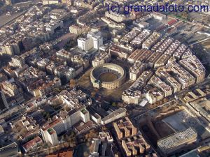 Granada Bull Ring from the air