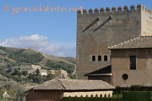 Photograph of The Sacromonte abbey taken from the