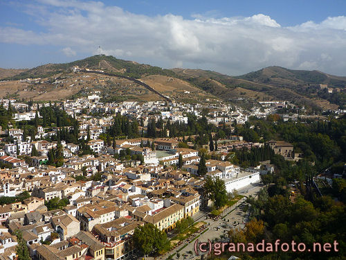 sacromonte from alhambra