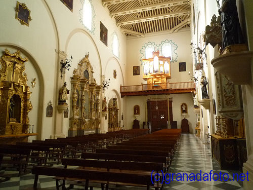 The inside of San Salvador church