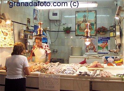 Fish Stall at San Agustin Market Granada