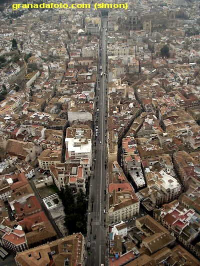 Gran Via Granada from the air