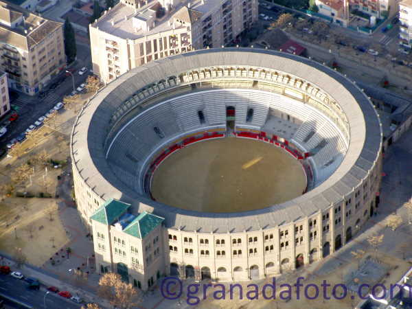Granada bull ring from the air.