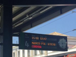 The sign to Madrid Atocha
