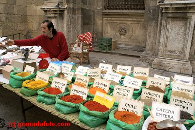 Spice seller next to the Cathedral.