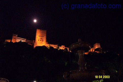 The Alhambra by moonlight.